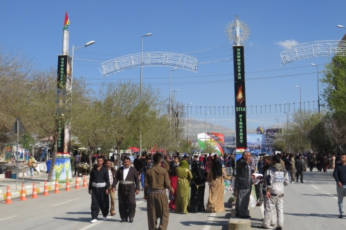 De Koerden vieren vandaag Oud&Nieuw. Het jaar 2714 staat op punt van beginnen.